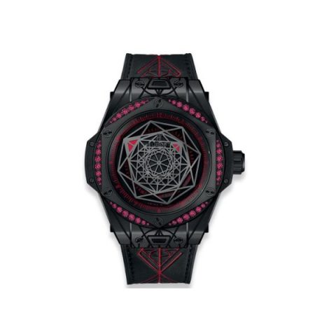 HUBLOT BIG BANG SANG BLEU ALL BLACK RED LIMITED EDITION OF 100 PIECES CERAMIC 39MM MEN'S WATCH