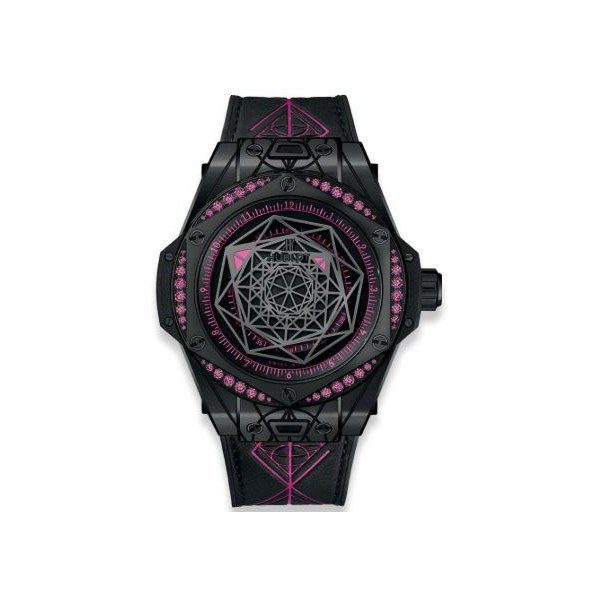 HUBLOT BIG BANG SANG BLEU ALL BLACK PINK LIMITED EDITION OF 100 PIECES CERAMIC 39MM MEN'S WATCH