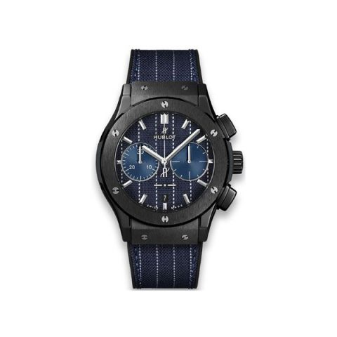 HUBLOT CLASSIC FUSION CHRONOGRAPH ITALIA INDEPENDENT PINSTRIPE CERAMIC LIMITED EDITION OF 100 PIECES 45MM MEN'S WATCH