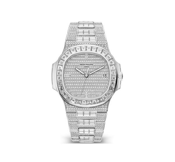 PATEK PHILIPPE NAUTILUS WHITE GOLD WATCH Ref. 5719/10G-010