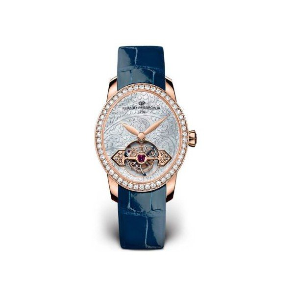 GIRARD PERREGAUX CATS EYE TOURBILLON 18KT ROSE GOLD 37.30MM X 32.30MM LADIES WATCH