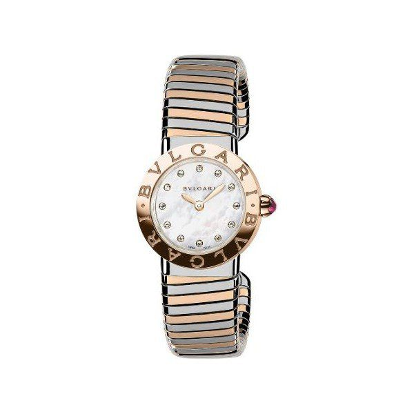 BVLGARI BVLGARI BVLGARI STAINLESS STEEL & 18KT ROSE GOLD 26MM LADIES WATCH