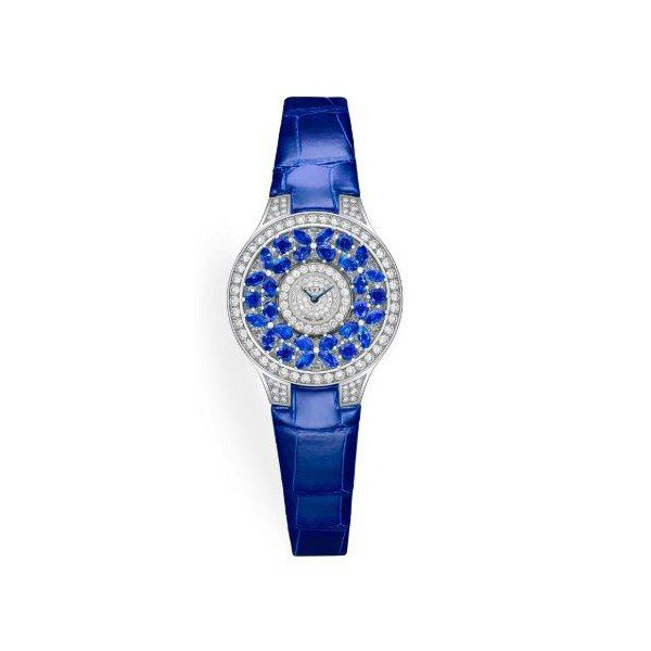 GRAFF CLASSIC BUTTERFLY SAPPHIRE LIMITED EDITION OF 300 PIECES 18KT WHITE GOLD 32MM LADIES WATCH