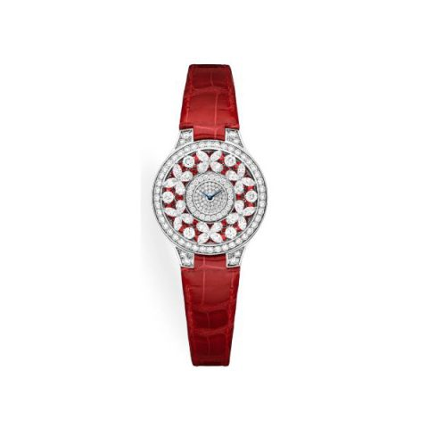 GRAFF CLASSIC BUTTERFLY RUBY 18KT WHITE GOLD 32MM LADIES WATCH