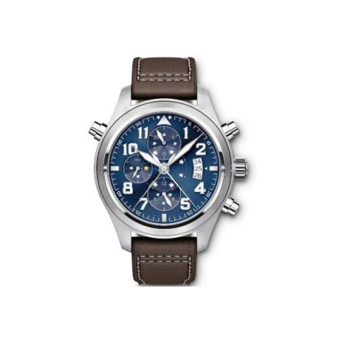 IWC PILOT MIDNIGHT DOUBLE CHRONOGRAPH LIMITED EDITION OF 1000 PIECES STAINLESS STEEL 44MM MEN'S WATCH