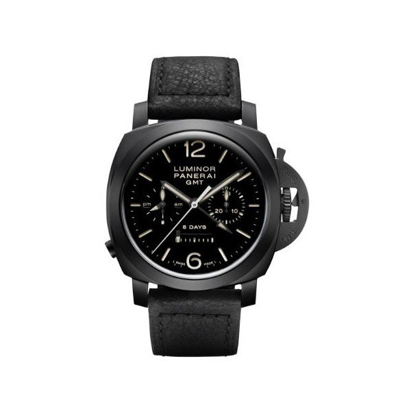 PANERAI LUMINOR 1950 CHRONO MONOPULSANTE 8 DAYS GMT CERAMIC 44MM MEN'S WATCH