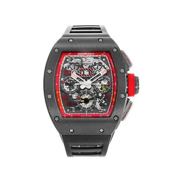RICHARD MILLE ANNUAL CALENDAR FLYBACK CHRONOGRAPH SINGAPORE GRAND PRIX LIMITED EDITION TITANIUM 50MM x 40MM MEN'S WATCH