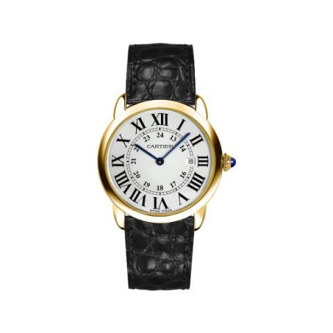 CARTIER RONDE SOLO 18KT YELLOW GOLD 36MM MEN'S WATCH