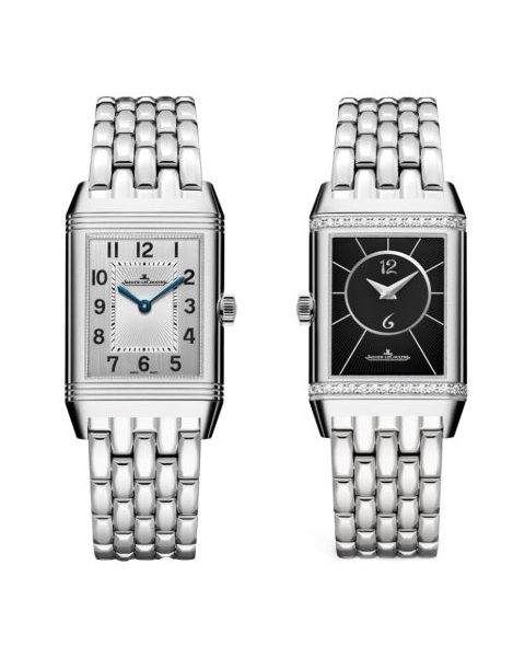 Jaeger LeCoultre Pre-owned Reverso Classic Medium Duetto Stainless Steel 40mm Men's Watch