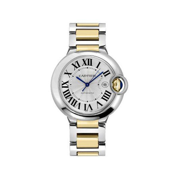 CARTIER BALLON BLEU STAINLESS STEEL & 18KT YELLOW GOLD 42MM MEN'S WATCH
