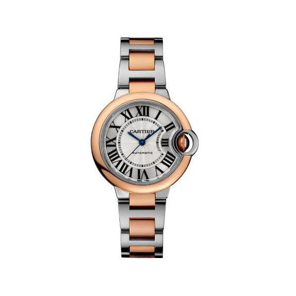 CARTIER BALLON BLEU STAINLESS STEEL 33MM LADIES WATCH