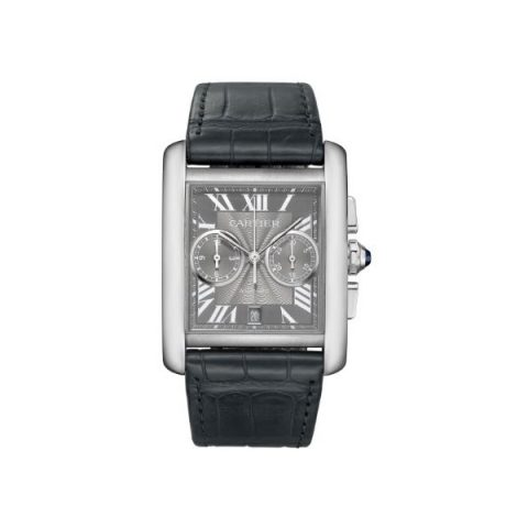 CARTIER TANK MC CHRONOGRAPH 34.3MM X 44MM STAINLESS STEEL MEN'S WATCH
