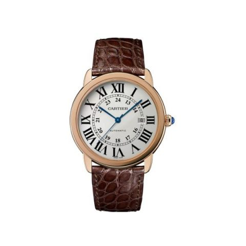 CARTIER RONDE SOLO DE CARTIER 18KT ROSE GOLD 42MM MEN'S WATCH