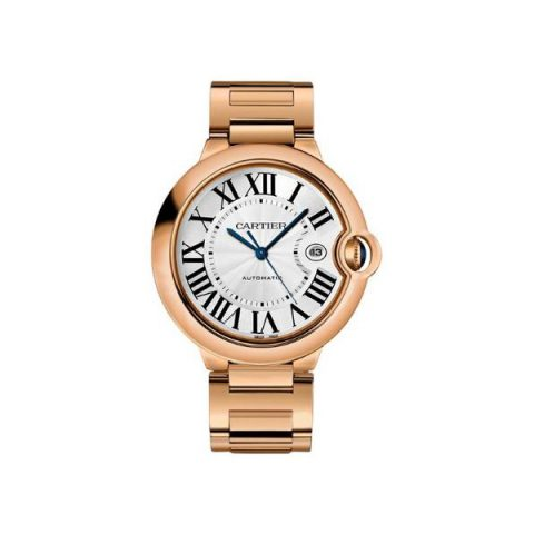 CARTIER BALLON BLEU LARGE 18KT ROSE GOLD 42MM MEN'S WATCH