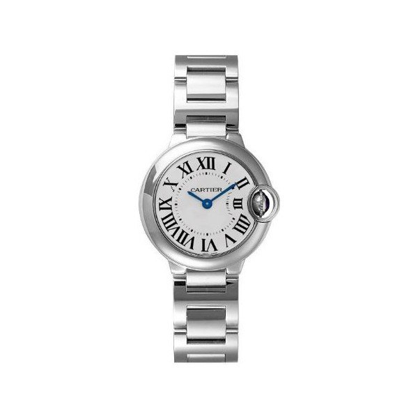 CARTIER BALLON BLEU STAINLESS STEEL 28.6MM LADIES WATCH