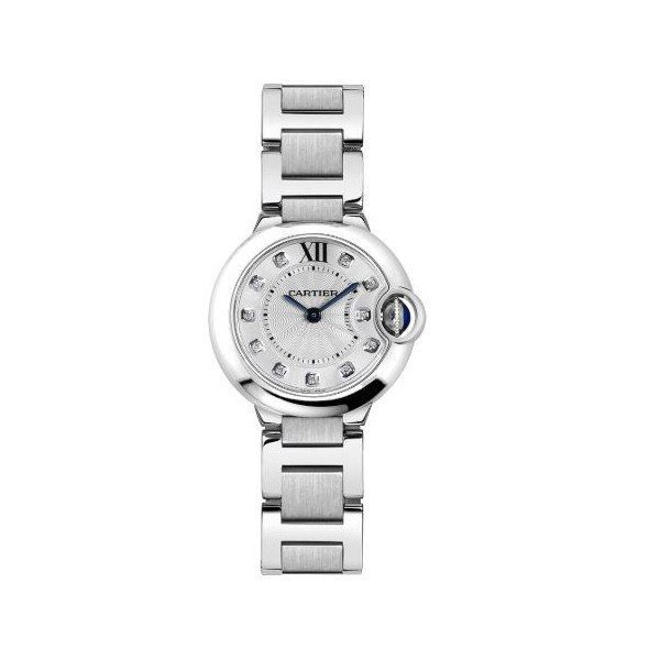 CARTIER BALLON BLEU STAINLESS STEEL 28MM LADIES WATCH