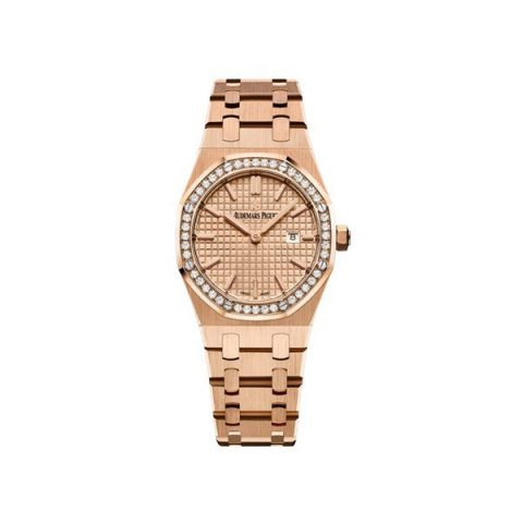 AUDEMARS PIGUET ROYAL OAK QUARTZ 33MM 18KT ROSE GOLD LADIES WATCH