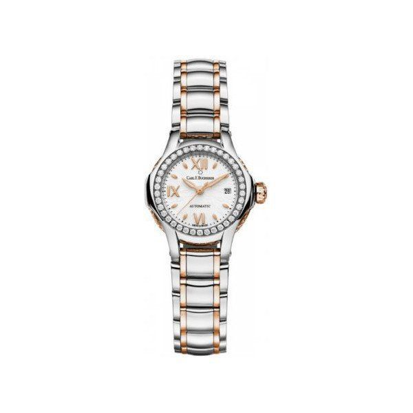 CARL F. BUCHERER PATHOS QUEEN 27MM STAINLESS STEEL/18KT ROSE GOLD LADIES WATCH