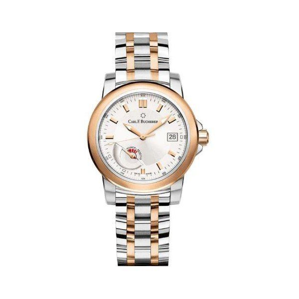 CARL F. BUCHERER PATRAVI AUTODATE 38MM STAINLESS STEEL/18KT ROSE GOLD UNISEX WATCH
