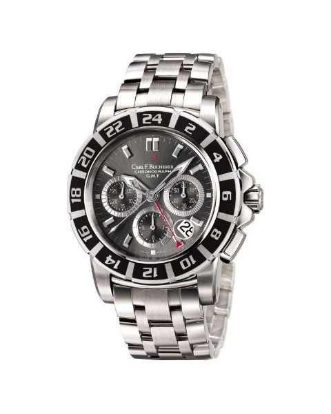 Carl F. Bucherer Pre-owned Patravi Chronograph 42mm Stainless Steel Men's Watch