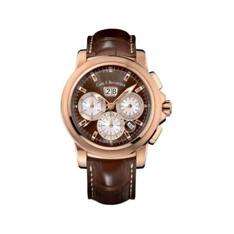 CARL F. BUCHERER PATRAVI CHRONODATE 42MM 18KT ROSE GOLD MEN'S WATCH