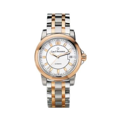 CARL F. BUCHERER PATRAVI AUTODATE 27MM STAINLESS STEEL LADIES WATCH
