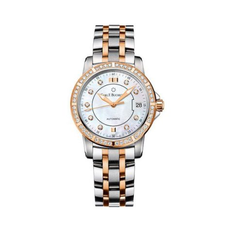 CARL F. BUCHERER PATRAVI AUTODATE TWOTONE 27MM STAINLESS STEEL LADIES WATCH