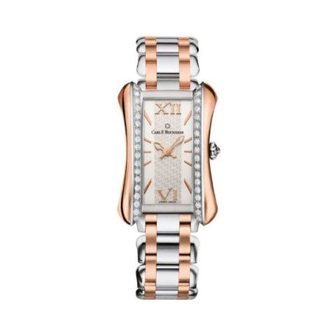CARL F. BUCHERER ALACRIA PRINCESS TWOTONE 21MM X 30MM STAINLESS STEEL/18KT ROSE GOLD LADIES WATCH
