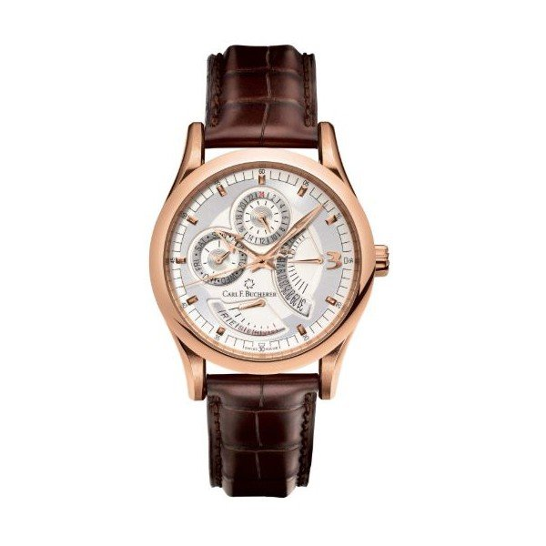 CARL F. BUCHERER MANERO RETROGRADE 40MM 18KT ROSE GOLD MEN'S WATCH