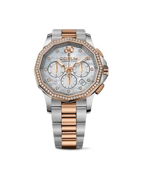 CORUM ADMIRAL'S CUP LEGEND MOP DIAL CHRONOGRAPH 38MM STAINLESS STEEL LADIES WATCH