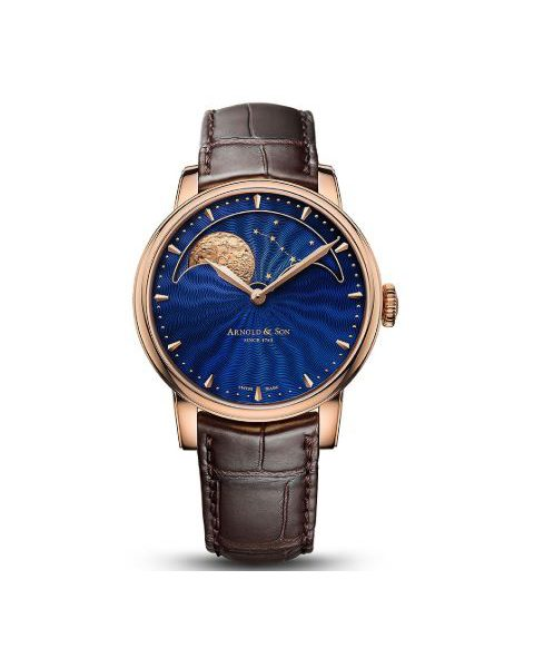 ARNOLD & SON HM PERPETUAL MOON 42MM 18KT ROSE GOLD MEN'S WATCH