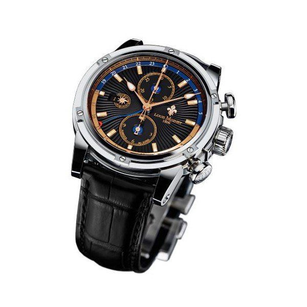 LOUIS MOINET GEOGRAPH 46MM STAINLESS STEEL LIMITED EDITION MEN'S WATCH