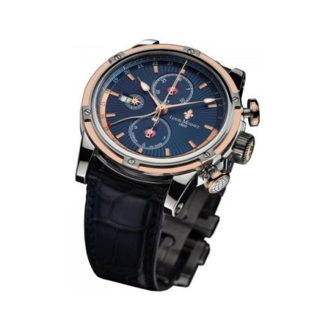 LOUIS MOINET GEOGRAPH 46MM STAINLESS STEEL LIMITED EDITION 365 PIECES MEN'S WATCH
