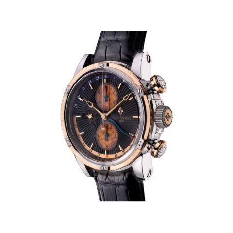 LOUIS MOINET GEOGRAPH 46MM STAINLESS STEEL LIMITED EDITION 120 PIECES MEN'S WATCH