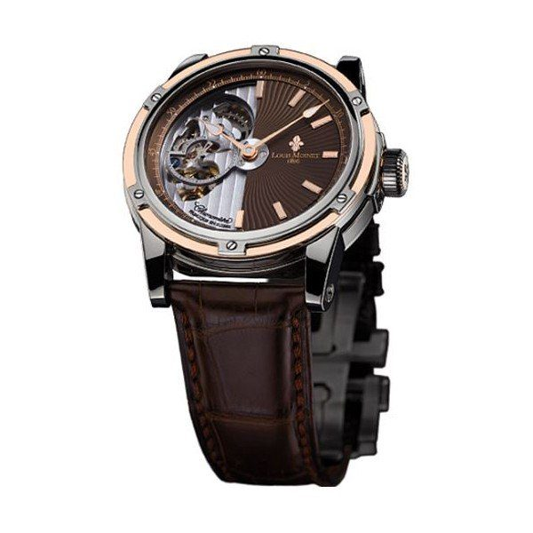 LOUIS MOINET MECANOGRAPH 43.5MM 18KT ROSE GOLD/TITANIUM LIMITED EDITION 365 PIECES MEN'S WATCH