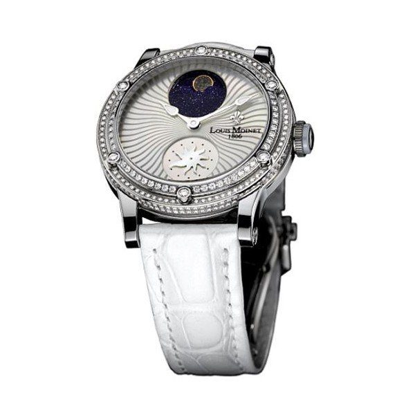LOUIS MOINET STARDANCE 36MM 18KT WHITE GOLD LIMITED EDITION 365 PIECES LADIES WATCH