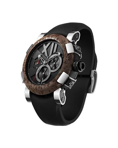ROMAIN JEROME TITANIC DNA CHRONOGRAPH 50MM BLACK SATIN FINISHED STAINLESS STEEL MEN'S WATCH