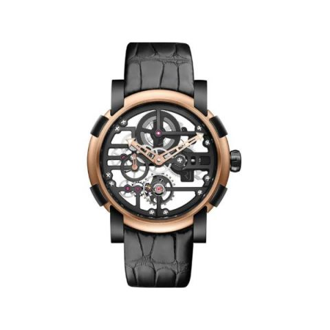 ROMAIN JEROME MOON DNA SKYLAB HEAVY METAL 44MM BLACK PVD COATED STEEL & 18KT ROSE GOLD LIMITED EDITION 99 PIECES MEN'S WATCH