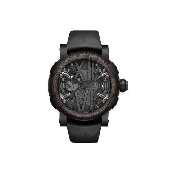 ROMAIN JEROME TITANIC DNA STEAMPUNK 50MM BLACK PVD COATED STEEL MEN'S WATCH