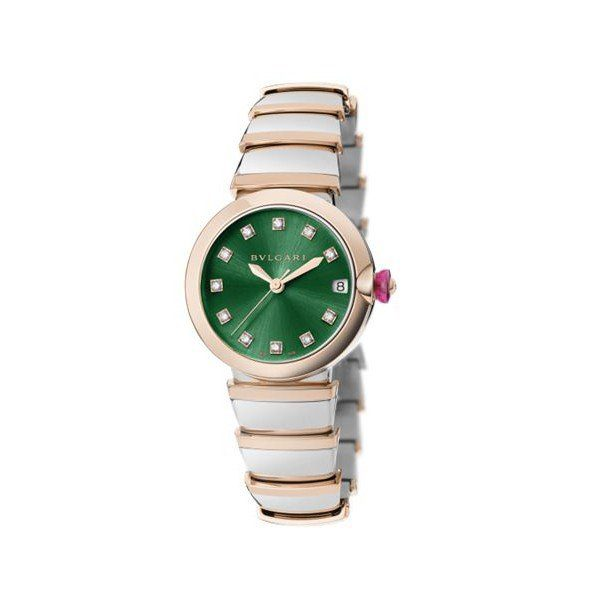 BVLGARI LVCEA 33MM STAINLESS STEEL & 18KT ROSE GOLD LIMITED EDITION OF 27 PIECES LADIES WATCH