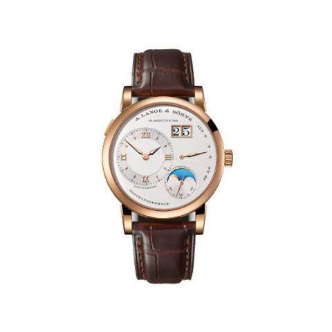 A. LANGE & SOHNE LANGE 1 MOON PHASE DAY/NIGHT 38.5MM 18KT ROSE GOLD MEN'S WATCH