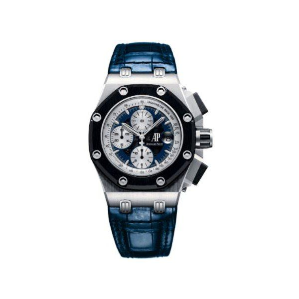 AUDEMARS PIGUET ROYAL OAK OFFSHORE RUBENS BARRICHELLO II PLATINUM MEN'S WATCH LIMITED EDITION 150 REF. 26078PO.OO.D018CR.01