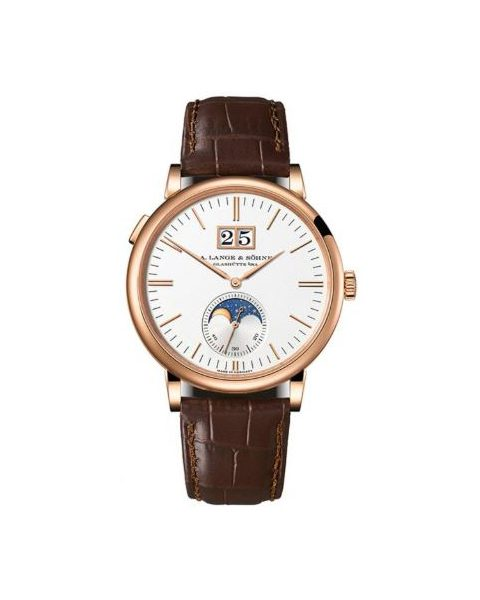 A. LANGE & SOHNE SAXONIA MOON PHASE 40MM 18KT ROSE GOLD MEN?S WATCH