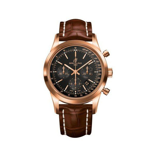 BREITLING TRANSOCEAN CHRONOGRAPH 43MM 18KT ROSE GOLD MEN'S WATCH