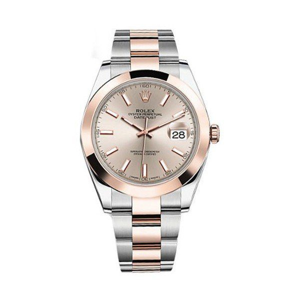 ROLEX OYSTER PERPETUAL DATEJUST 41MM 18KT ROSE GOLD MEN'S WATCH