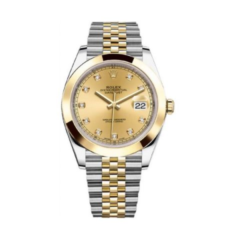 ROLEX OYSTER PERPETUAL DATEJUST 18KT YELLOW GOLD & STAINLESS STEEL 41MM MEN'S WATCH