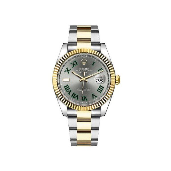 ROLEX DATEJUST 18KT YELLOW GOLD & STAINLESS STEEL 41MM MEN'S WATCH