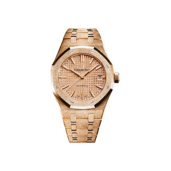 AUDEMARS PIGUET ROYAL OAK 37MM FROSTED 18KT ROSE GOLD LADIES WATCH