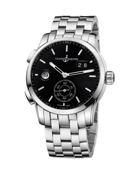 ULYSSE NARDIN DUAL TIME MANUFACTURE 42MM STAINLESS STEEL MEN'S WATCH