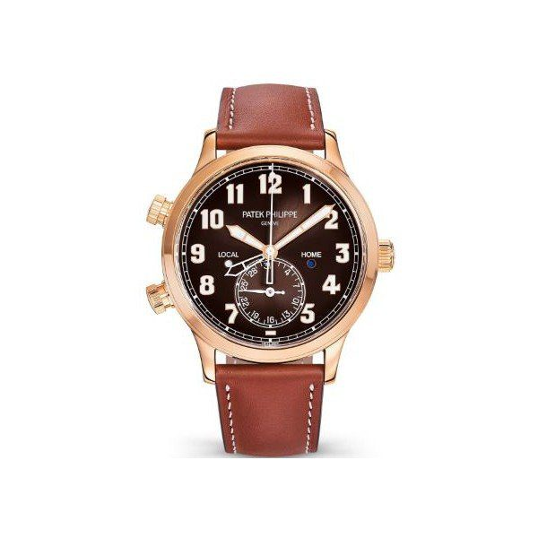 PATEK PHILIPPE CALATRAVA PILOT TRAVEL TIME 42MM 18KT ROSE GOLD MEN'S WATCH